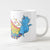 the little blue ducky white mug