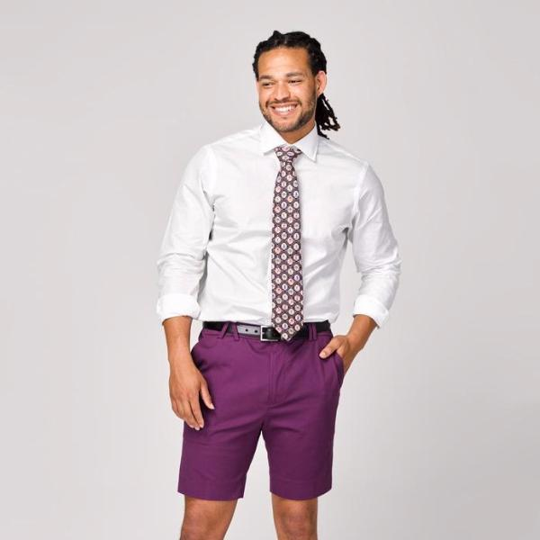 Mens Cotton Shorts in Mulberry Jam