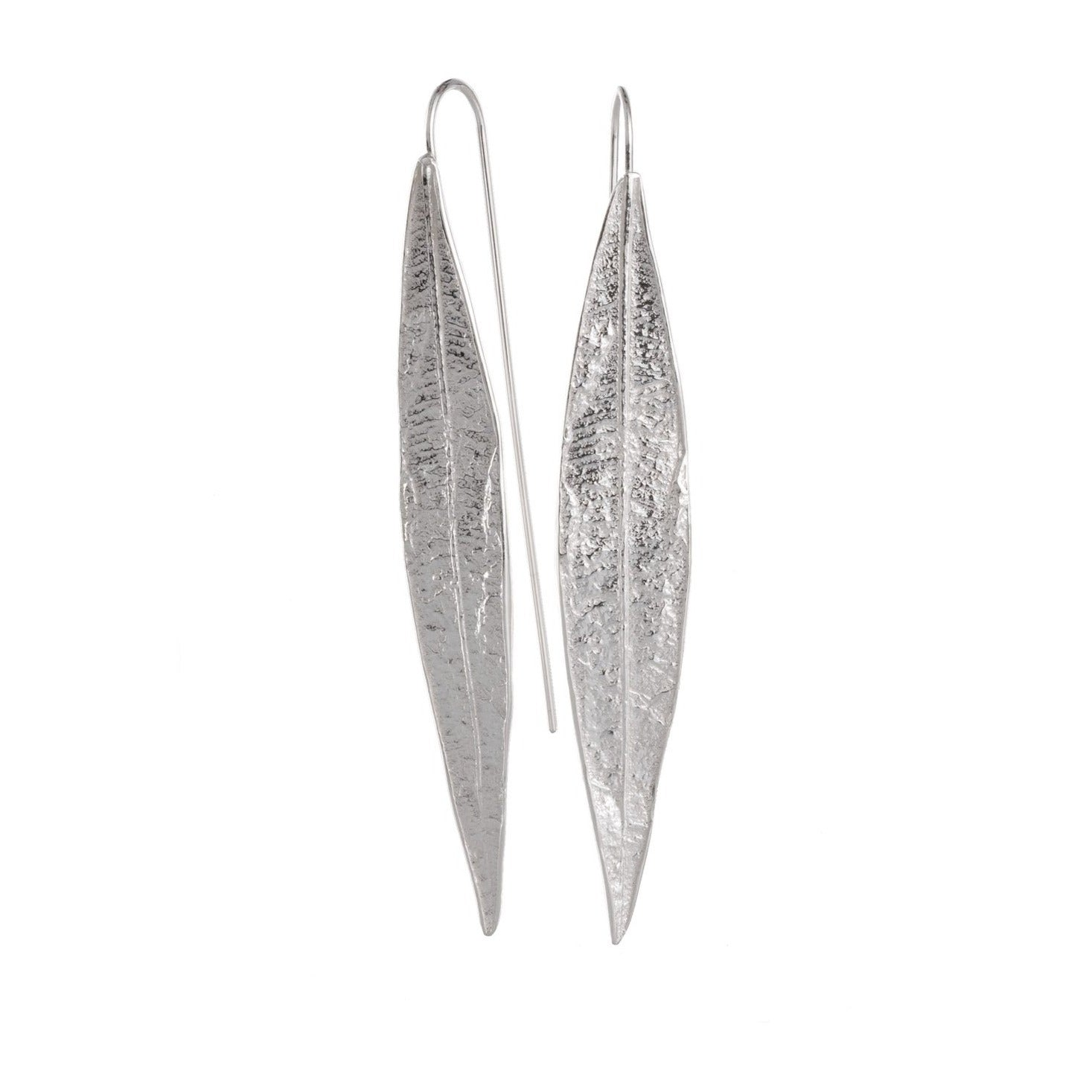 Airy Heights Design oleander leaf earrings