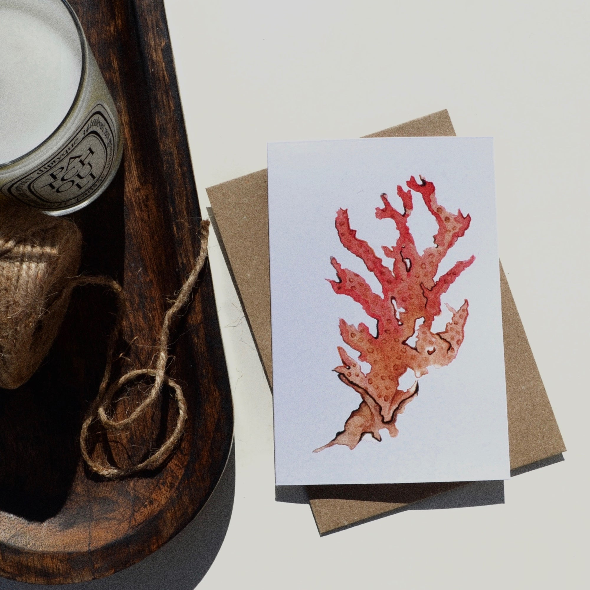 Roots Bermuda watercolours greeting card
