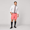 Mens Cotton Linen Shorts in Red Coral