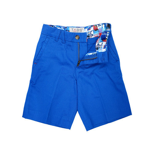 TABS | mini | Bermuda shorts | reef line blue | front open