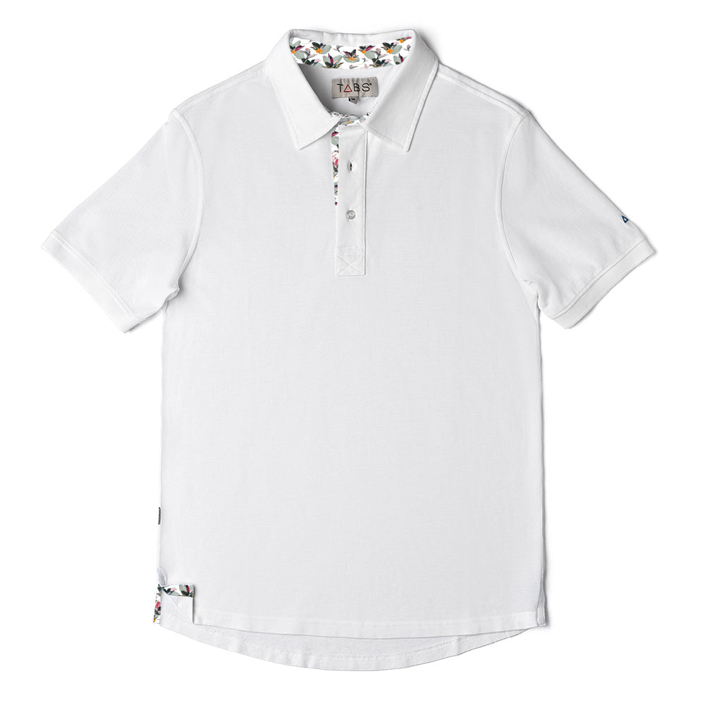 Men's Performance Polo - Roof White