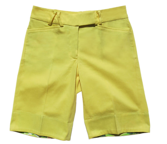 TABS Women Bermuda Shorts, Buttercup Yellow, product shot