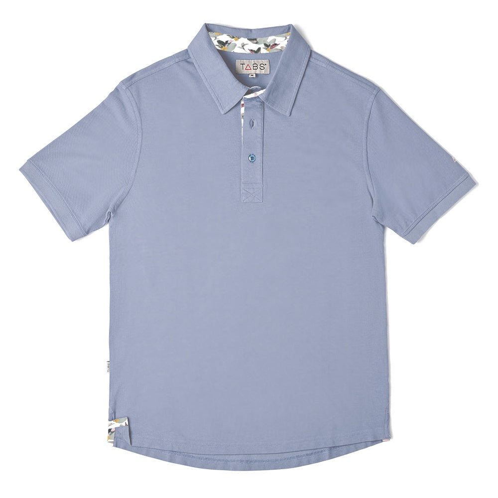 Men's Performance Polo - Bermuda Stone Grey