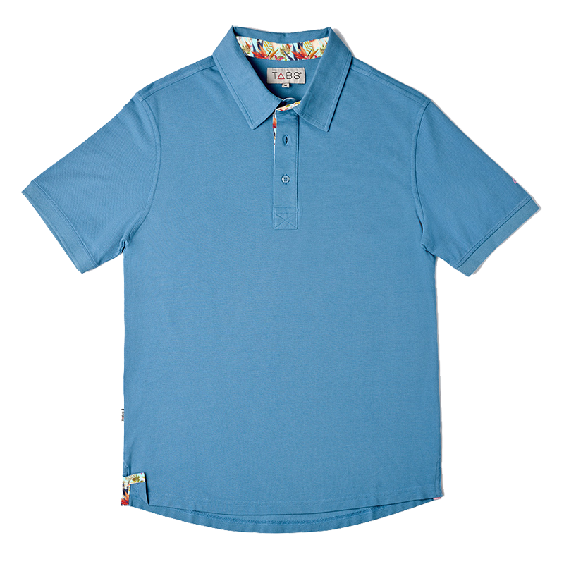 Men's Cotton Polo - Dusk Blue