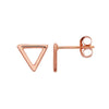 Rebecca Little open Triangle Studs