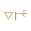 Solid Open Triangle Studs Rebecca Little Jewellery