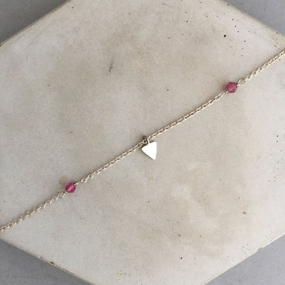 rebecca little jewellery triangle anklet