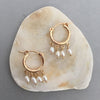Small Hoops with Pearls Rebecca Little Jewellery