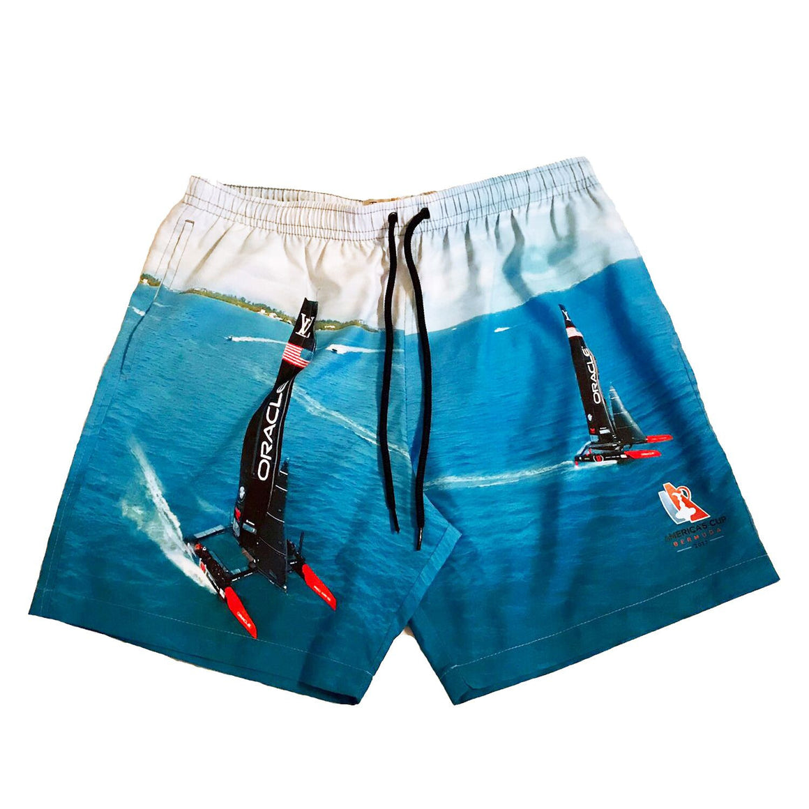 Swim Shorts for Men - America's Cup 'Double Trouble' Print