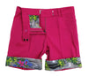 TABS Women Bermuda Shorts, hibiscus pink, turn up