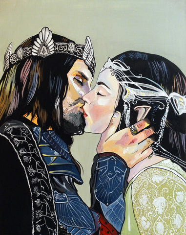 Arwen and Aragorn Print