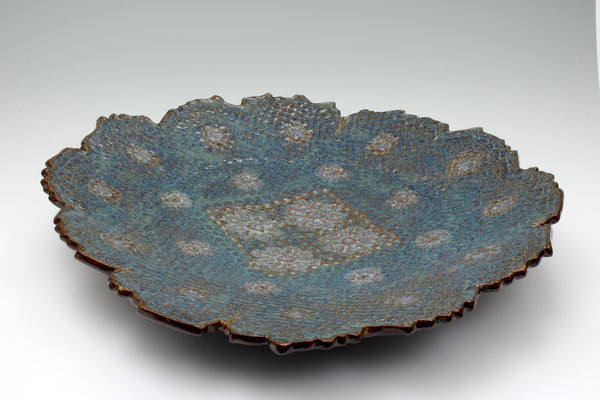 Large Flower Pattern Serving Bowl