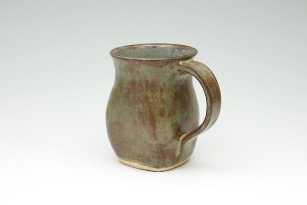 Brown and Green Square Mug