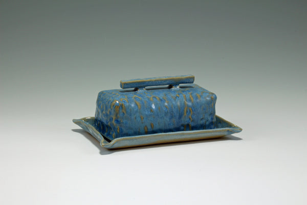 Satin Blue Butter Dish