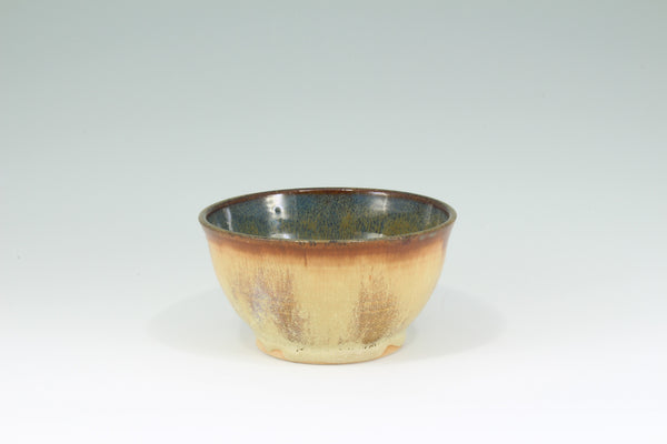 Small Brown and Blue-Green Bowl
