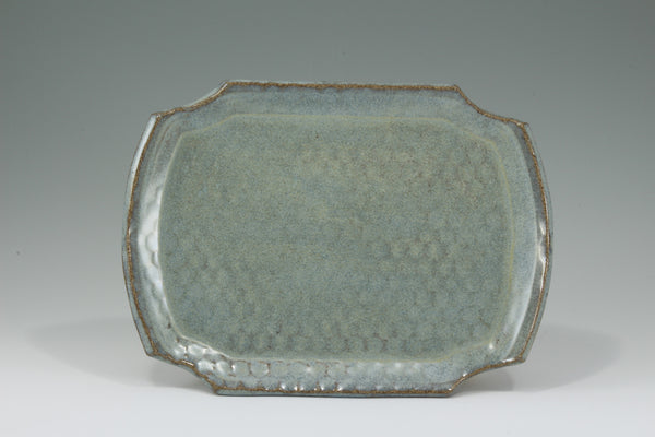 Large Plate - Speckled Blue
