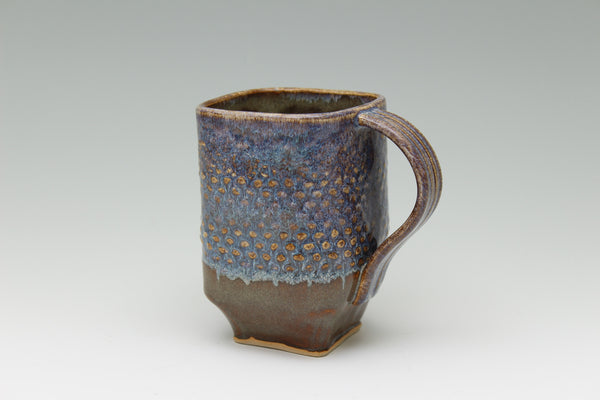 Square Blue Iron Mug