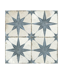 Spitalfields Retro Star Blue Ceramic