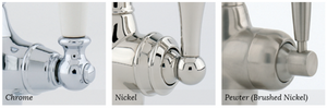 Alsace Four Hole Sink Mixer with Lever Handles and Rinse