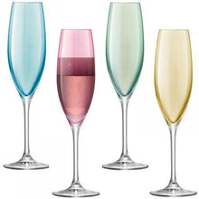 Load image into Gallery viewer, Champagne Flute x 4 - Polka Collection