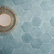 Load image into Gallery viewer, Medina Hexagon Aqua Porcelain