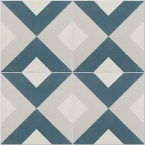 Modern Harlequin Denim Encaustic