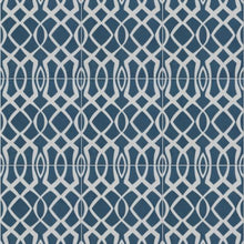 Load image into Gallery viewer, Modern Lattice Blue Encaustic