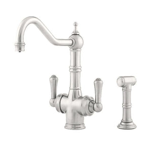 Aquitaine Dual Lever Sink Mixer with Filtration and Rinse