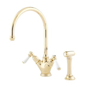 Minoan Sink Mixer with Lever Handles and Rinse