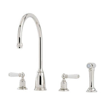 Load image into Gallery viewer, Athenian Four Hole Sink Mixer with Lever Handles and Rinse