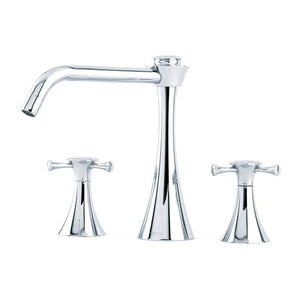 Oasis Three Hole Sink Mixer with Crosshead Handles