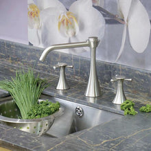 Load image into Gallery viewer, Oasis Three Hole Sink Mixer with Crosshead Handles