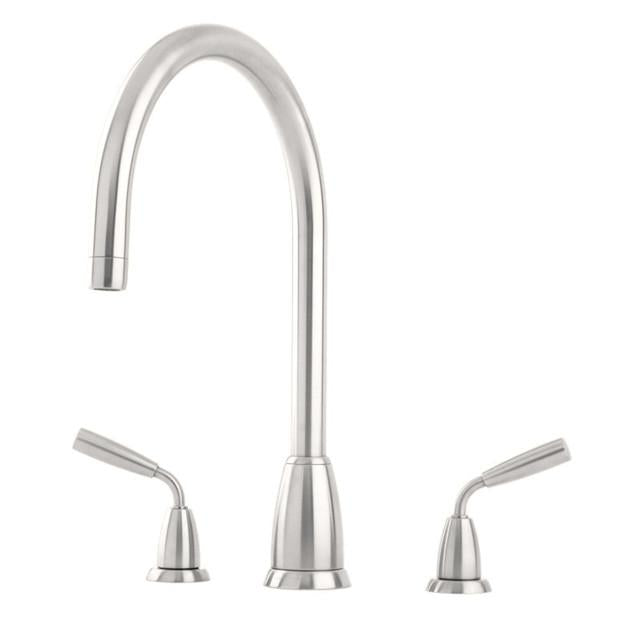 Titan Three Hole Sink Mixer with 'C' Spout