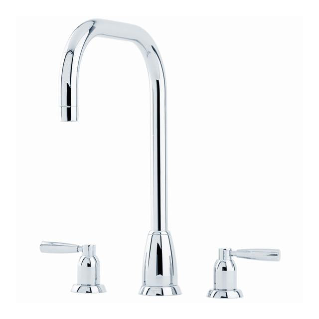 Callisto Three Hole Sink Mixer with 'U' Spout and Lever Handles