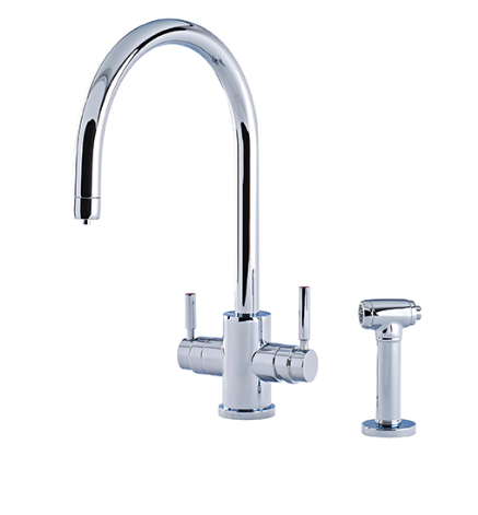 Phoenix 3-in-1 Instant Hot Sink Mixer with 'C' Spout and Rinse