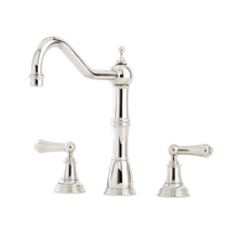 Load image into Gallery viewer, Alsace Three Hole Sink Mixer with Crosshead Handles