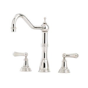 Alsace Three Hole Sink Mixer with Crosshead Handles