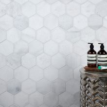 Load image into Gallery viewer, Long Island Marble Honed Large Hexagon Mosaic