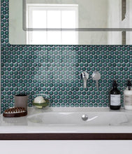 Load image into Gallery viewer, Yoga Penny Porcelain Mosaic Verdigris