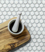 Load image into Gallery viewer, Yoga Penny Porcelain Mosaic White