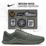 a136edb32a939 Designed to mimic tactical weight vests worn during Murph, the Nike Metcon  4 XD Patch training shoes come with military inspired velcro patches.