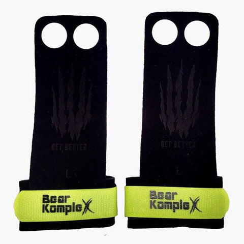 Bear KompleX 2 Hole Hand Grips - Yellow