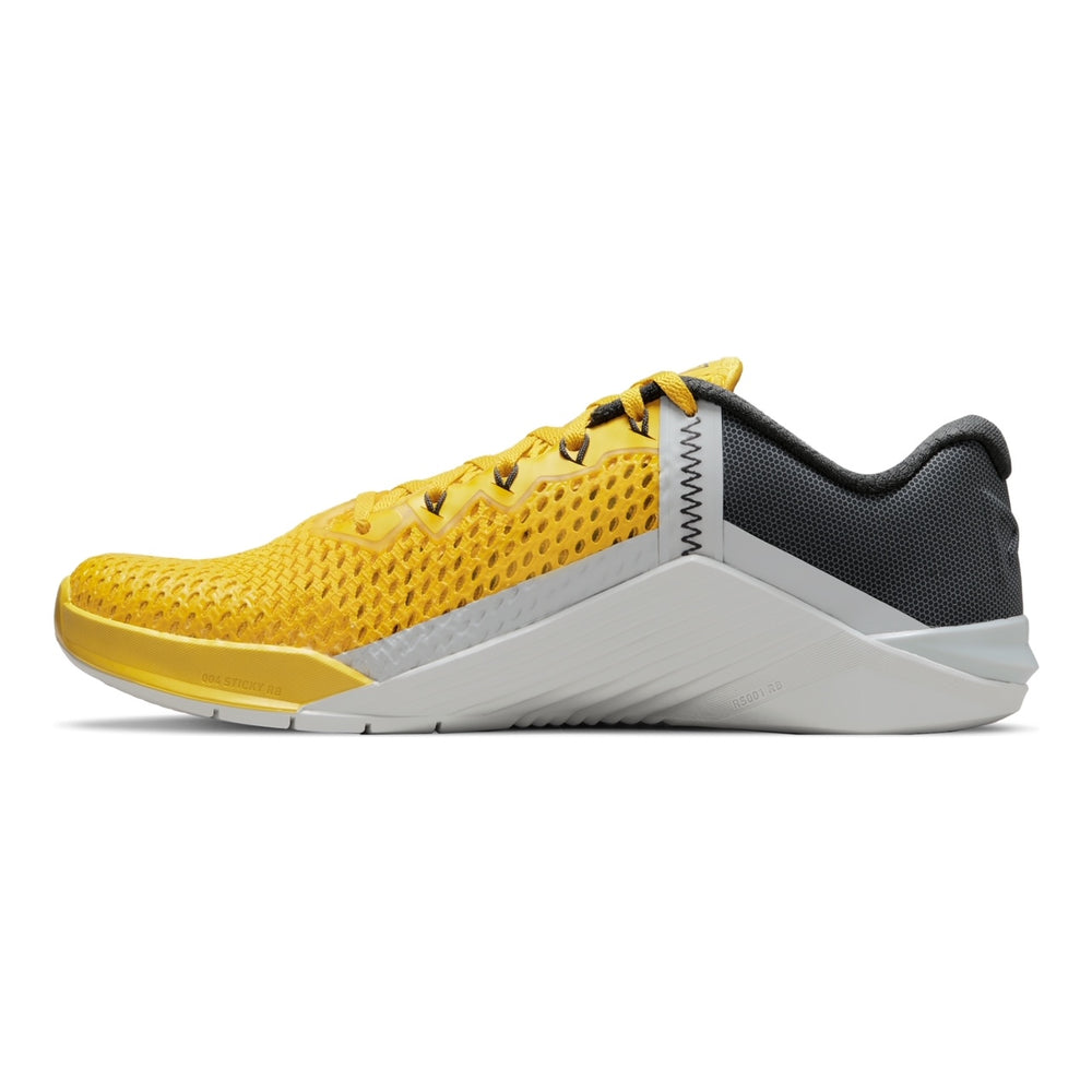 Men's Nike Metcon 6 , men, nike, metcon, 6, crossfit, gym, workout, training, shoe, color, style, grey, citron, yellow,