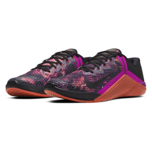 Load image into Gallery viewer, Men's Nike Metcon 6 , men, nike, metcon, 6, crossfit, gym, workout, training, shoe, color, style, martian sunrise, black, red, plum