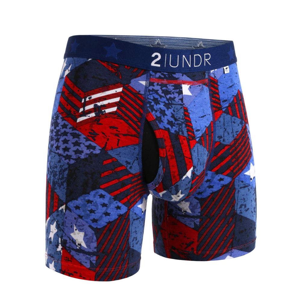 "Load image into Gallery viewer, Men's 2UNDR Swing Shift 6"" Boxer Brief"