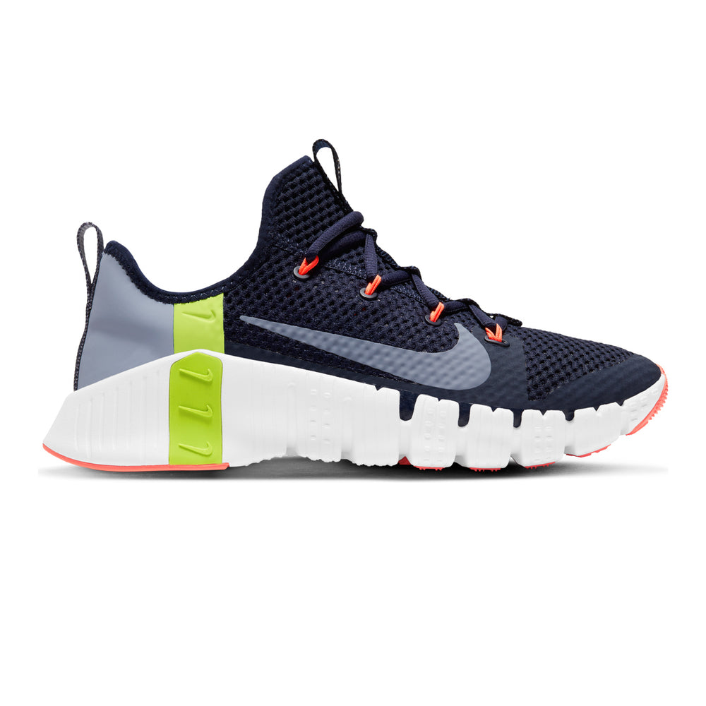 Men's Nike Free Metcon 3, men, nike, free, metcon, 3, new, crossfit, workout, gym, training, shoe, color, blue, white, mango, yellow, volt