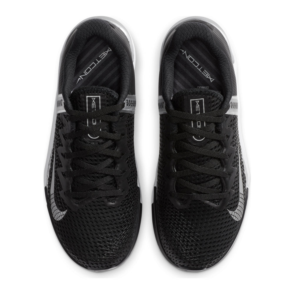 Load image into Gallery viewer, Women's Nike Metcon 6 , women, nike, metcon, 6, crossfit, gym, workout, training, shoe, color, style, black, white, silver