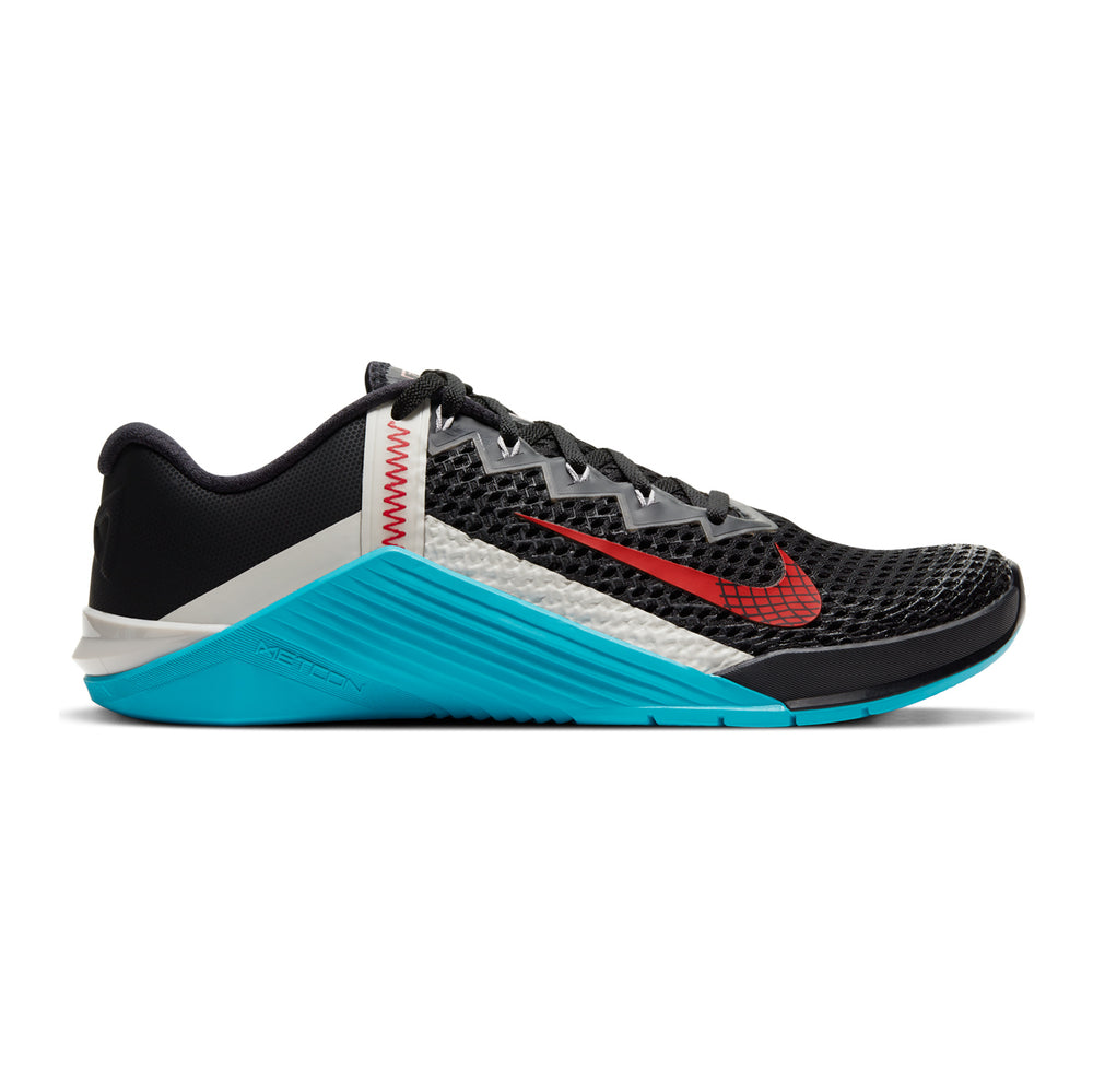 Men's Nike Metcon 6 , men, nike, metcon, 6, crossfit, gym, workout, training, shoe, color, style, blue, black, red, silver
